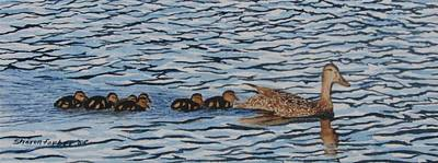 Follow The Leader Art Print by Sharon Farber