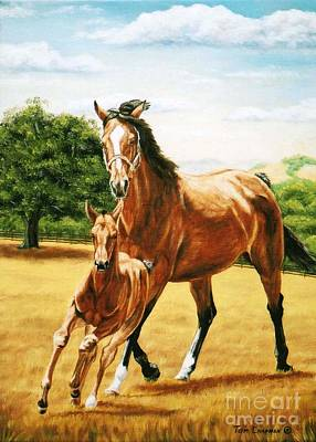 Kentucky Painting - Follow The Leader by Tom Chapman