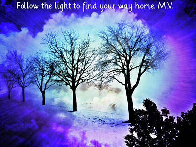 Digital Art - Follow The Light by Femina Photo Art By Maggie