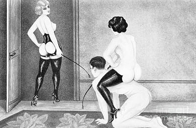 Bdsm Drawing - Follow The Mistress by Unknown