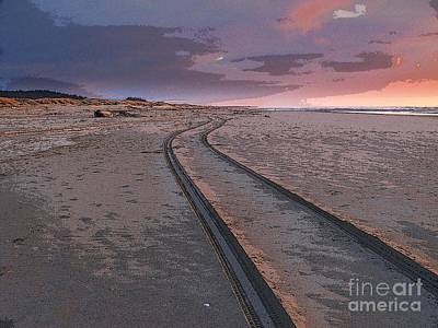 Follow The Sandy Road Art Print by Carol Grimes