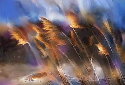 Pampas Grass Painting - Follow The Sun by Bob Salo