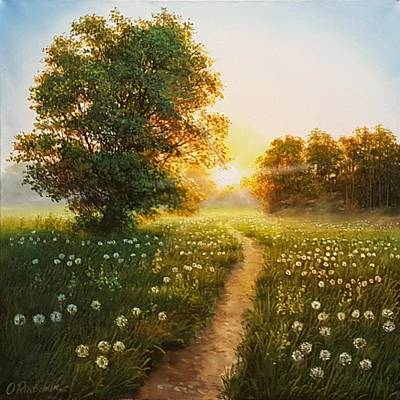 Wall Art - Painting - Follow The Sun by Oleg Riabchuk