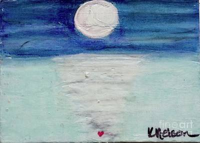Moonshadow Painting - Follow Your Heart by Kim Nelson