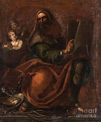Follower Of Annibale Carracci Art Print