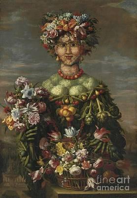 Follower Of Giuseppe Arcimboldo  Art Print