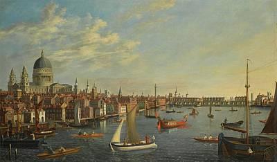 Follower Of Samuel Scott London Art Print