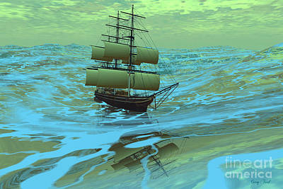 Following Sea Art Print by Corey Ford