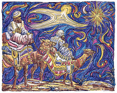Star-crossed Drawing - Following The Star by Brent Kastler