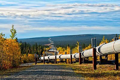 Photograph - Following The Transalaska Pipeline by Cathy Mahnke
