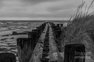 Photograph - Folly Beach Anti Erosion Pier by Dale Powell