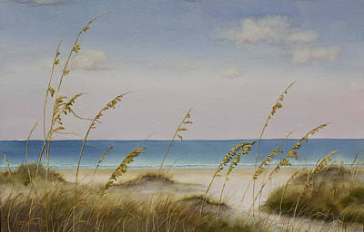Folly Beach Art Print by Cindy Davis