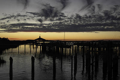 Photograph - Folly Beach Dock by Will Burlingham