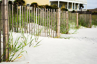 Photograph - Folly Beach Fence by Dustin Ahrens
