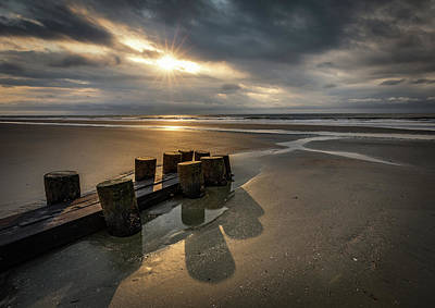 Photograph - Folly Beach Glimpse Of Light by Donnie Whitaker
