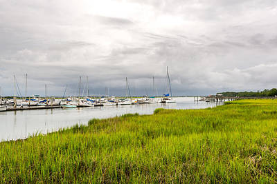Photograph - Folly Beach Marina by Dustin Ahrens