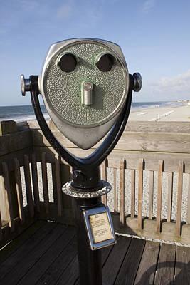 Folly Beach Pay Binoculars Art Print