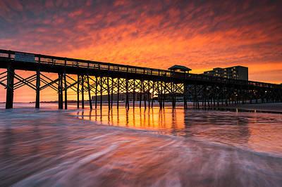 Photograph - Folly Beach Pier And Waterfront Development Charleston South Carolina by Mark VanDyke