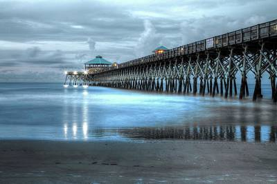 Photograph - Folly Beach Pier by Frank G  Montoya