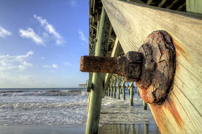 Folly Beach Pier Decay Art Print