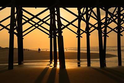 Sunrise Photograph - Folly Beach Pier by Todd Wise