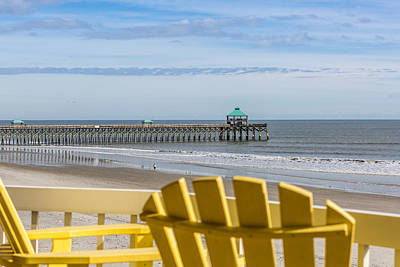 Photograph - Folly Beach Pier View  by Donnie Whitaker