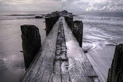 Photograph - Folly Beach Pilings Charleston South Carolina by Carol Montoya