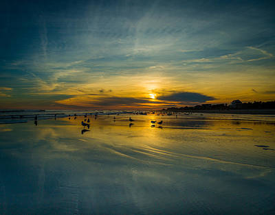 Photograph - Folly Beach Seascape by Donnie Whitaker