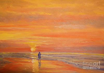 Painting - Folly Beach Solitude by Keith Wilkie