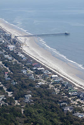 Folly Beach South Carolina Aerial Original by Dustin K Ryan