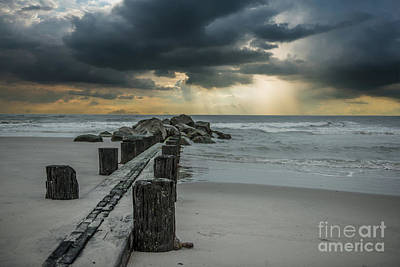 Photograph - Folly Beach Storm A Brewing by Dale Powell