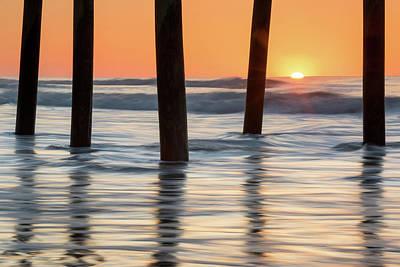 Folly Beach Sunrise Charleston South Carolina Art Print by Mark VanDyke