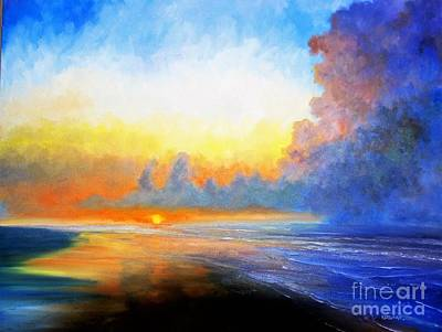 Painting - Folly Beach Sunrise by Keith Wilkie