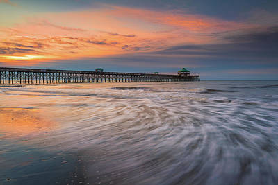 Photograph - Folly Beach Sunrise by Kim Carpentier