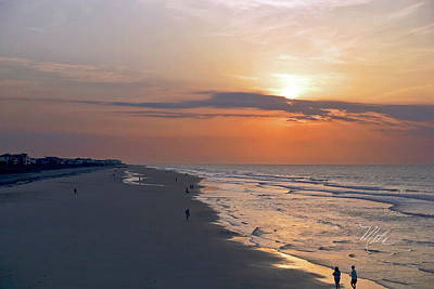 Photograph - Folly Beach Sunrise by Meta Gatschenberger