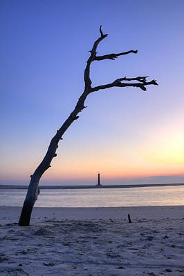 Folly Beach Sunrise Over Morris Island Original by Dustin K Ryan