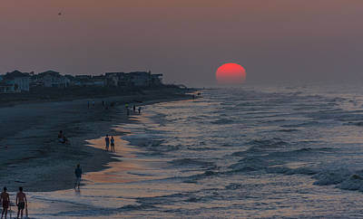Folly Beach Sunrise Art Print by RC Pics