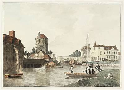 Folly Painting - Folly Bridge And Bacon Tower by Joseph Mallord