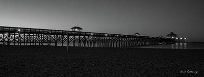 Photograph - Folly Dawn Folly Beach Pier Charleston South Carolina by Reid Callaway