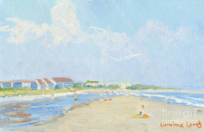 Painting - Folly Field Beach And The Westin by Candace Lovely