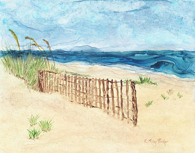 Folly Field Fence Art Print