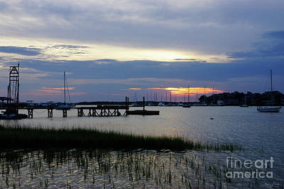 Photograph - Folly Harbor Sunset by Jennifer White
