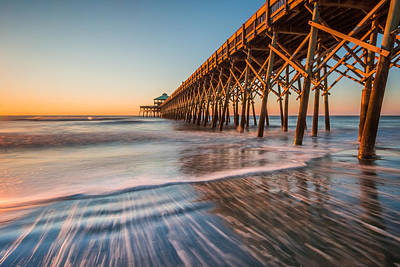 Folly Pier Art Print by RC Pics