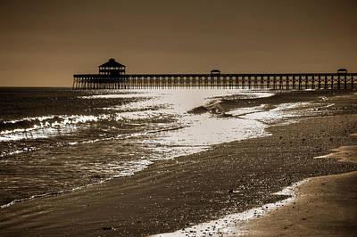Folly Photograph - Folly Pier Sunset by Drew Castelhano