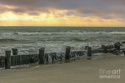 Photograph - Folly Storm Surge by Dale Powell