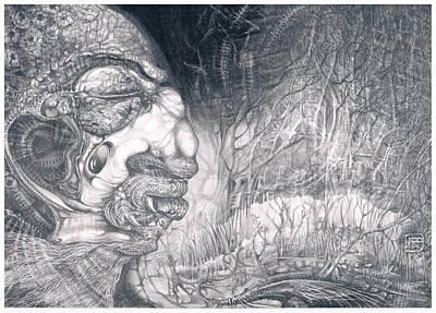 Drawing - Fomorii Warrior by Otto Rapp