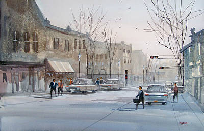 Painting - Fond Du Lac - Downtown by Ryan Radke