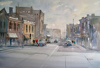 Painting - Fond Du Lac - Main Street by Ryan Radke