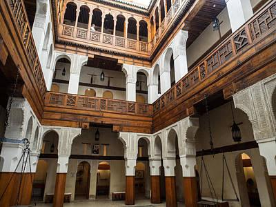 Moroccan Photograph - Fondouk El-nejjarine Built by Panoramic Images