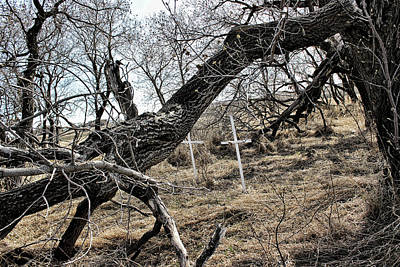 Photograph - Fone Hill Cemetery  by Ryan Crouse